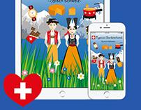 Typical Switzerland - Typisch Schweiz iMessage Stickers