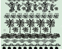 PALM BEACH PATTERN VECTOR ART
