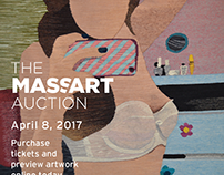 The MassArt Auction Online Advertising and Email Invite
