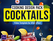 Cooking Design Pack - Cocktails | After Effects Templat