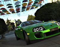 The Green Snake Rendering on low pc