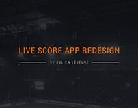 Live Score App Redesign