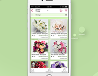 Flower booking Logo and App part 3(Visual Design)
