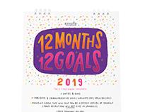 12 Months 12 Goals Calendar
