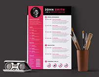 Free Timeline Resume Template in PSD File Format
