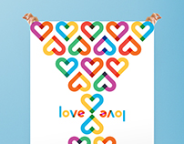 #TypeWithPride poster - Love is Love