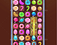 Big Sweet Match-3 Game Icons Pack