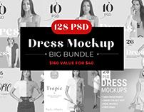 75% OFF Sale Woman Dress Mockup Bundle