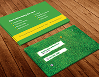 Free Landscaping Business Card Template PSD
