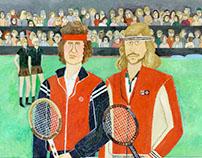 Björn Borg & John McEnroe in 1980