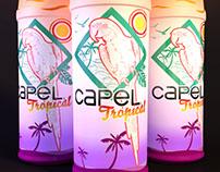 Diseño etiqueta CAPEL tropical (concurso)
