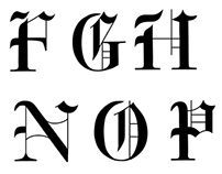 Old English Caslon Font