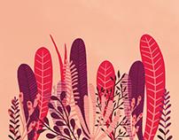 Pink plant - Pattern design