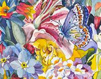 Watercolor Gardens Illustration