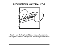 Promotion Material for Positive brand