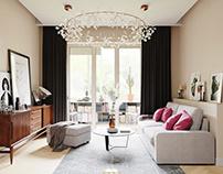 Apartment in Moscow, CGI Design.