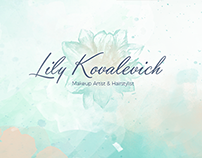 Website & print design for Lily Kovalevich