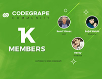 1K MEMBERS on CODEGRAPE COMMUNITY
