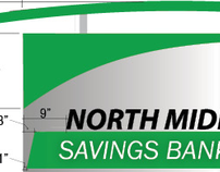 North Middlesex Bank signage