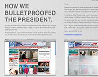 """Bulletproofed President"""