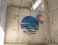 "mural ""Planet Naphtha"""
