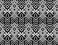 Geometric pixel patterns