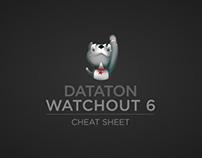 Dataton Watchout 6 cheat sheet