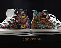 Customized Converse as a Christmas gift.