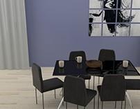 Dining room 3D Illustration