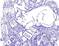 Ballpoint pen drawing, A4