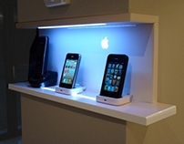 "2 x SAMSUNG 55"" ES / custom iPhone shelf gloss white"
