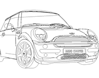 Mini Cooper Illustrator