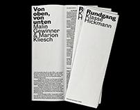 Klasse Hickmann – Rundgang Brochure