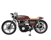 Honda CB360 Vector Drawing