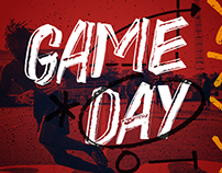 GAME DAY - FREE HAND DRAWN FONT