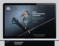 Tennis Academy Web Design - Student Project