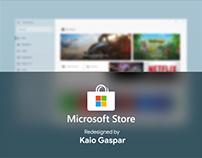 Redesign Microsoft Store - Fluent Design