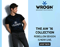 WROGN AW 16 BANNER FOR MYNTRA