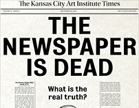 The Newspaper is Dead Posters