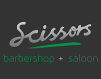 Sygil Media: Scissors Barbershop Logo Design