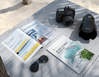Print magazine advertising for a travel company