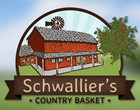 Schwallier's Country Basket Website and Logo