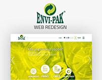 ENVI-PAK web redesign