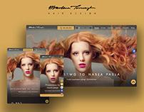 Hair Design - Hairdresser website - UX/UI Design