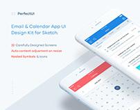 Email & Calendar UI/UX Kit (Sketch) by Petr Knoll