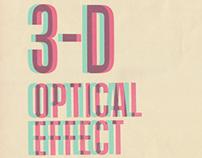 Letterpress 3D Poster