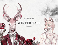 Mystical Winter Watercolor Set