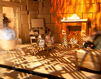 Cardboard Rooms (Set building)