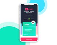Invision App Concept | iOS | Ui/IX
