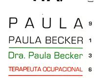 Paula Becker - Cartão de Visitas